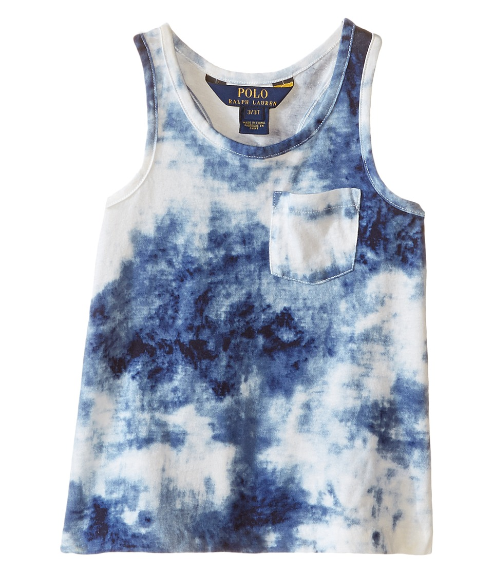 Polo Ralph Lauren Kids - Jersey Tie-Dye Tank Top (Toddler) (Blue/White Multi) Girl's Sleeveless