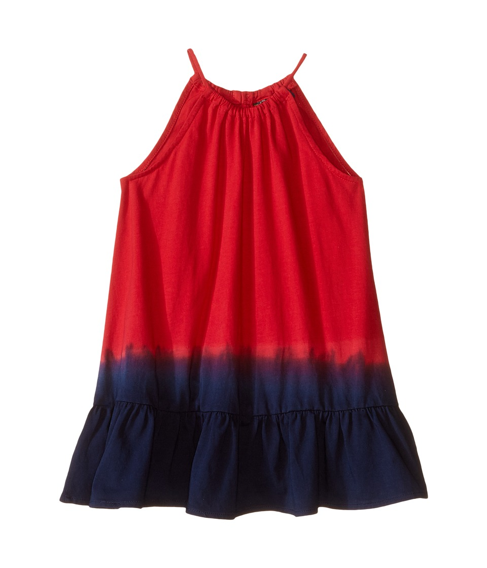 Polo Ralph Lauren Kids - Jersey Dip-Dye Maxi Dress (Toddler) (Red/Blue Multi) Girl's Dress