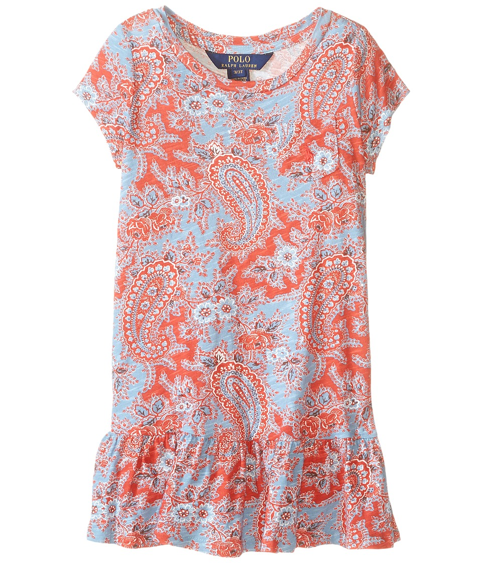 Polo Ralph Lauren Kids - Jersey Paisley Dress (Toddler) (Red/Blue Multi) Girl's Dress
