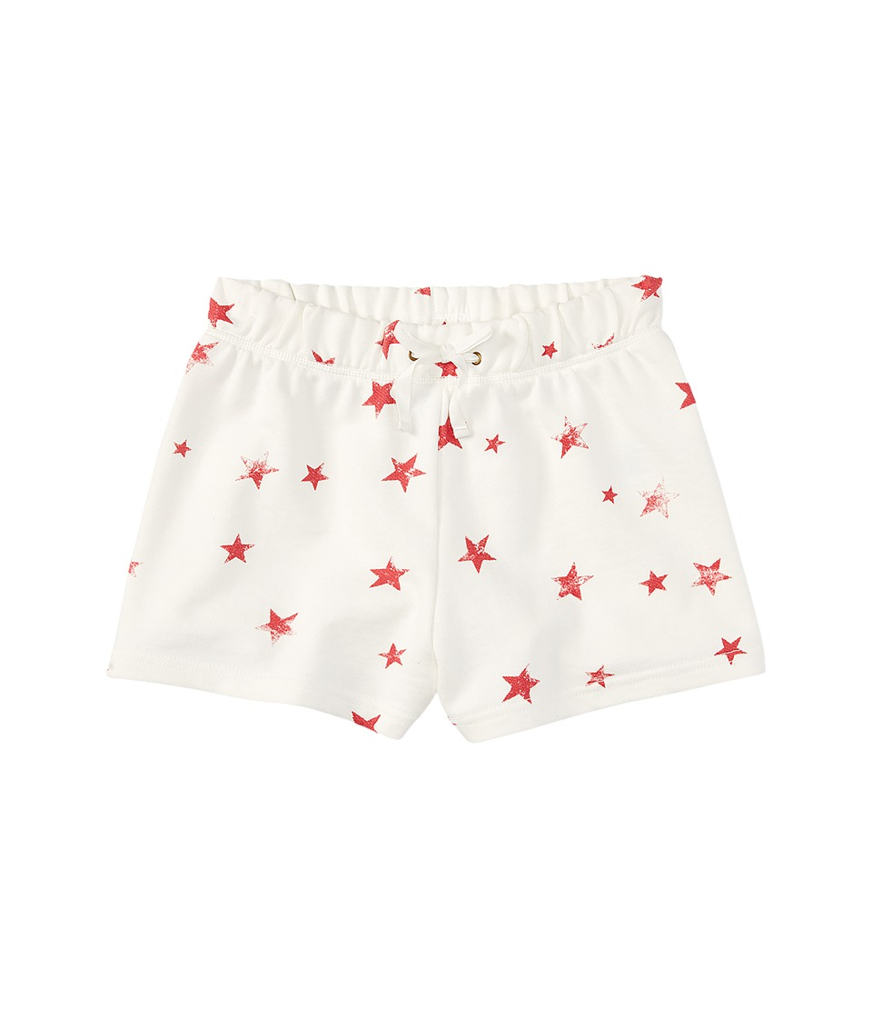Polo Ralph Lauren Kids - French Terry Star Shorts (Toddler) (Cream/Red Multi) Girl's Shorts