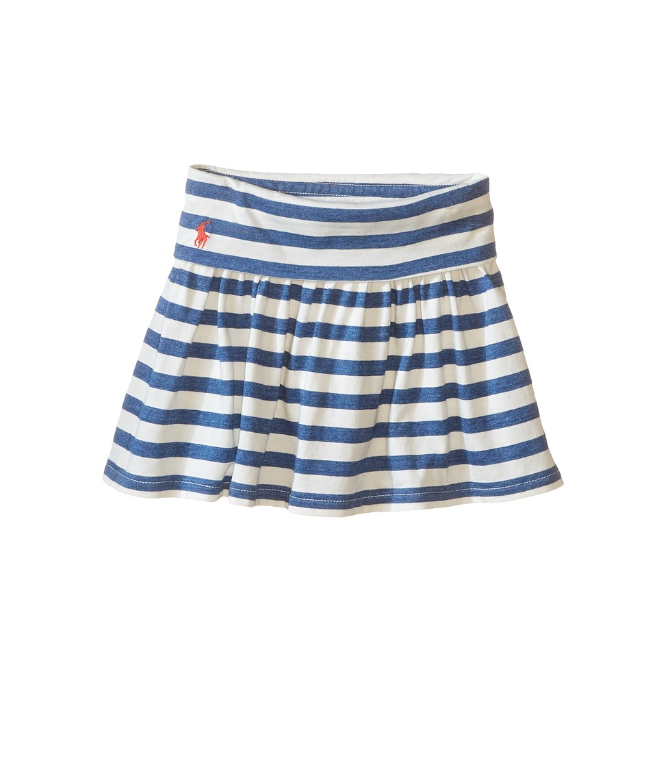 Polo Ralph Lauren Kids - Modal Stripe Skirt (Toddler) (Cream/Blue Heather) Girl's Skirt