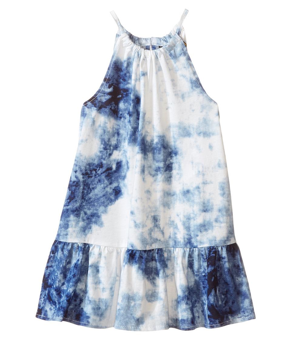 Polo Ralph Lauren Kids - Tie-Dye Dress (Toddler) (Blue/White Multi) Girl's Dress