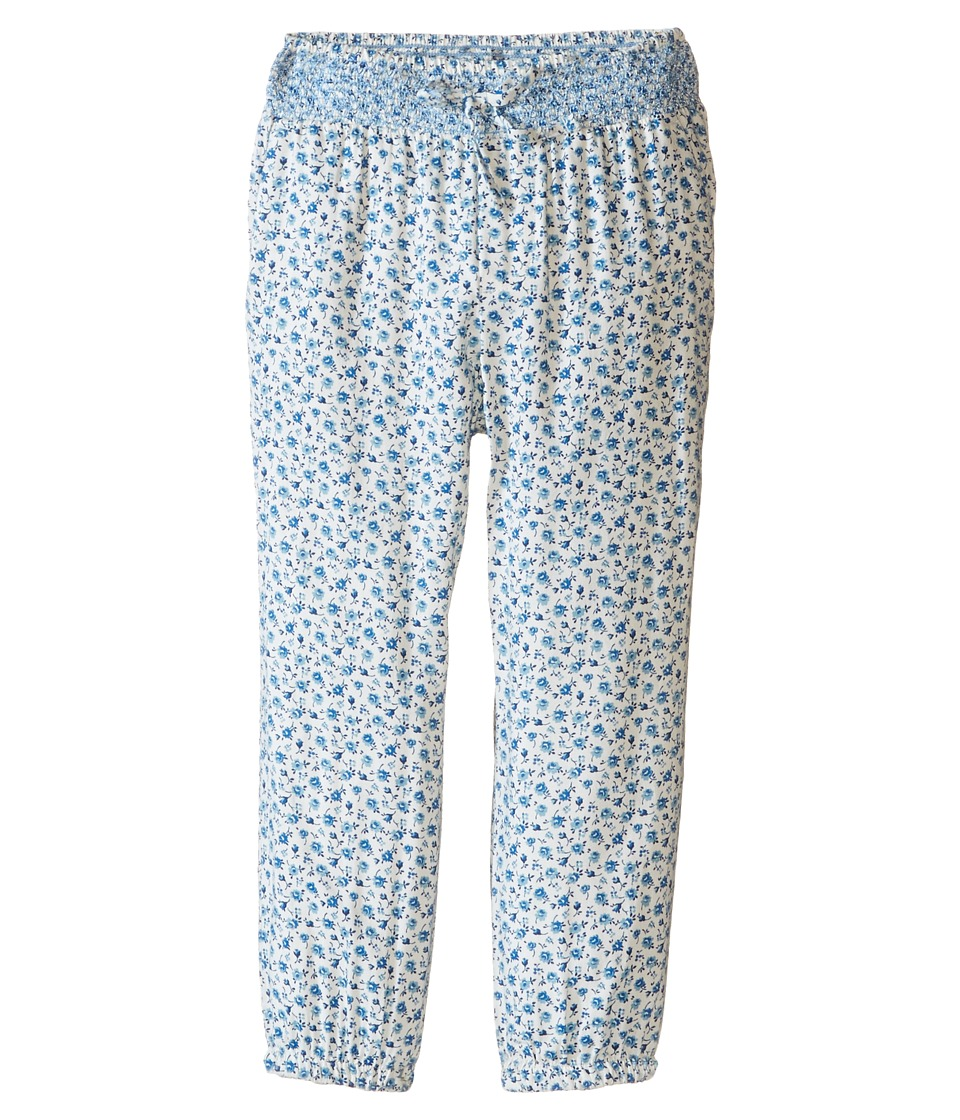 Polo Ralph Lauren Kids - Floral Pants (Toddler) (Cream/Blue Multi) Girl's Casual Pants