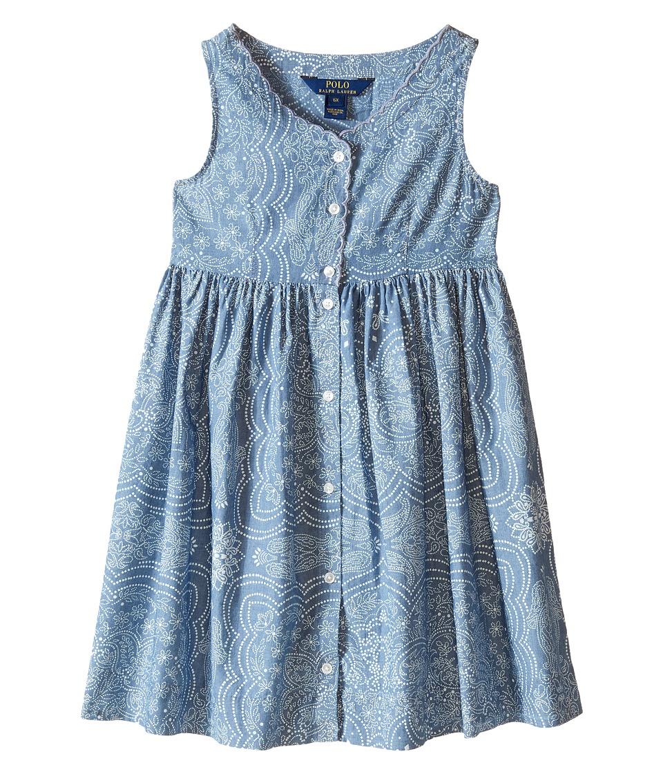 Polo Ralph Lauren Kids - Chambray Dress (Little Kids) (Indigo/Cream) Girl's Dress