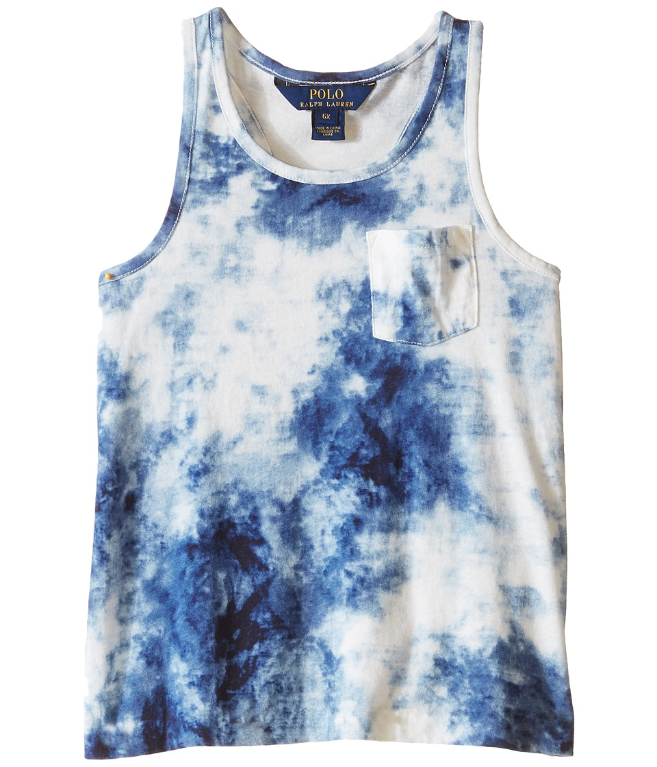 Polo Ralph Lauren Kids - Jersey Tie-Dye Tank Top (Little Kids) (Blue/White Multi) Girl's Sleeveless