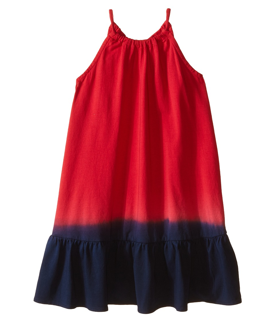 Polo Ralph Lauren Kids - Jersey Dip-Dye Maxi Dress (Little Kids) (Red/Blue Multi) Girl's Dress