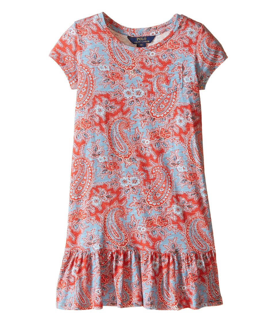 Polo Ralph Lauren Kids - Jersey Paisley Dress (Little Kids) (Red/Blue Multi) Girl's Dress