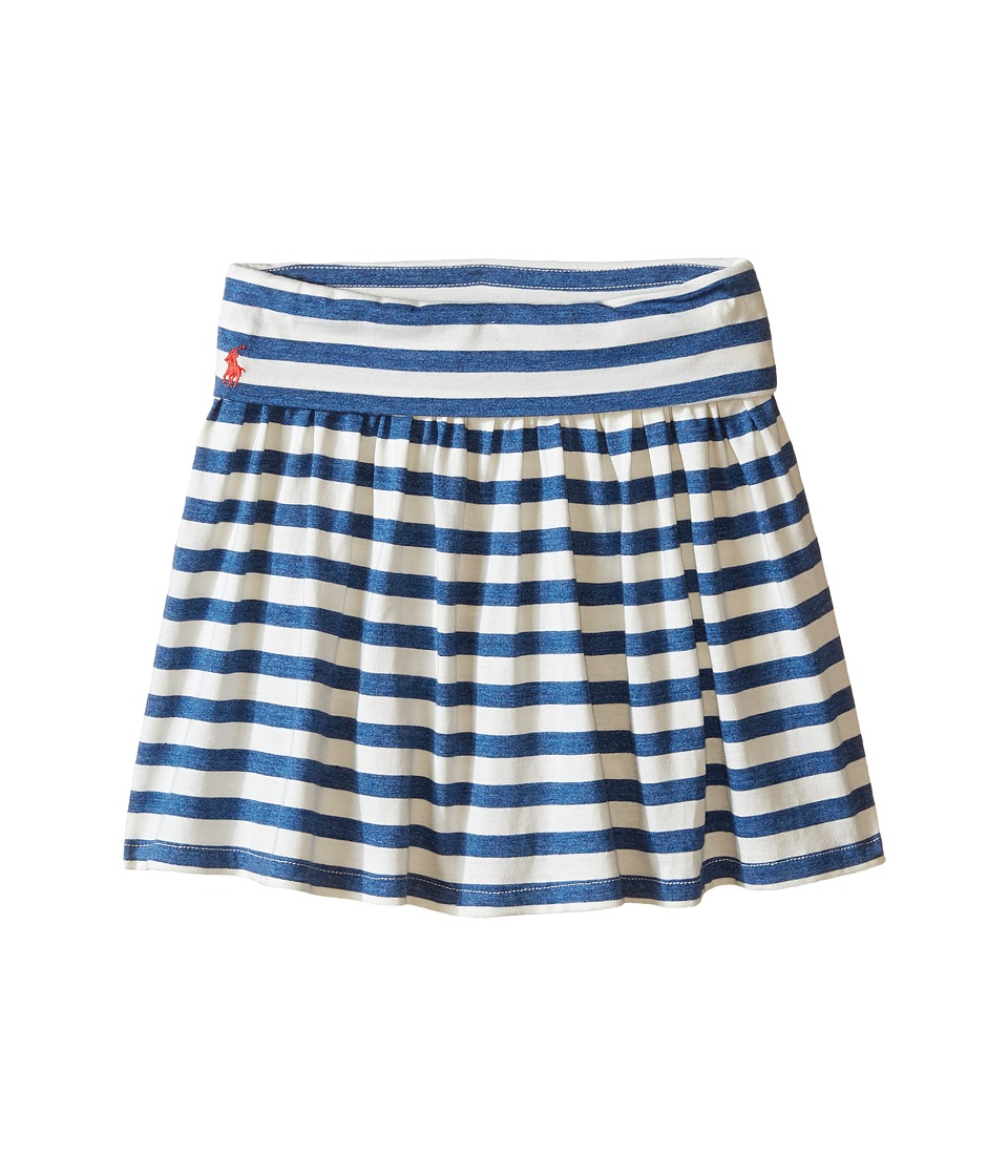 Polo Ralph Lauren Kids - Modal Stripe Skirt (Little Kids) (Cream/Blue Heather) Girl's Skort
