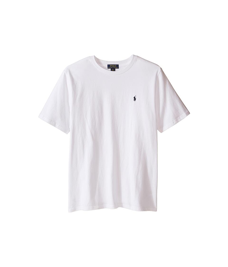 Polo Ralph Lauren Kids - 20/1 Jersey Crew Neck Tee (Big Kids) (White) Boy's T Shirt