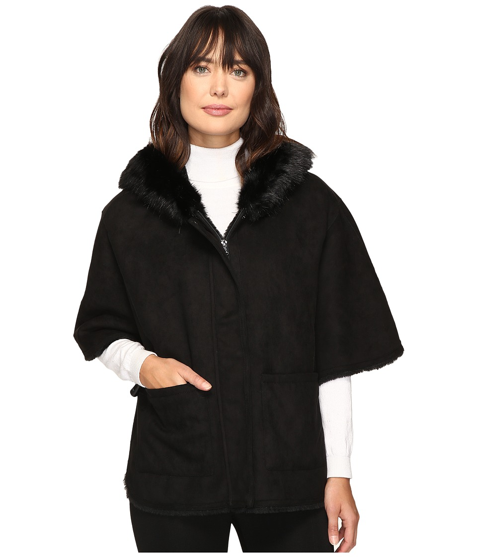 LAUREN Ralph Lauren - Cape Shearling (Black) Women's Coat