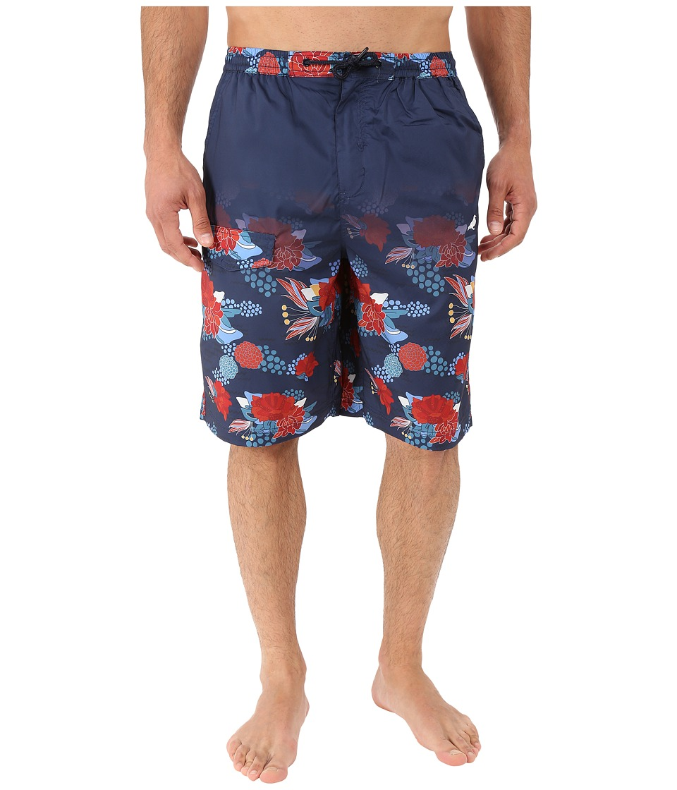 Staple - Floral Shorts (Navy) Men's Swimwear