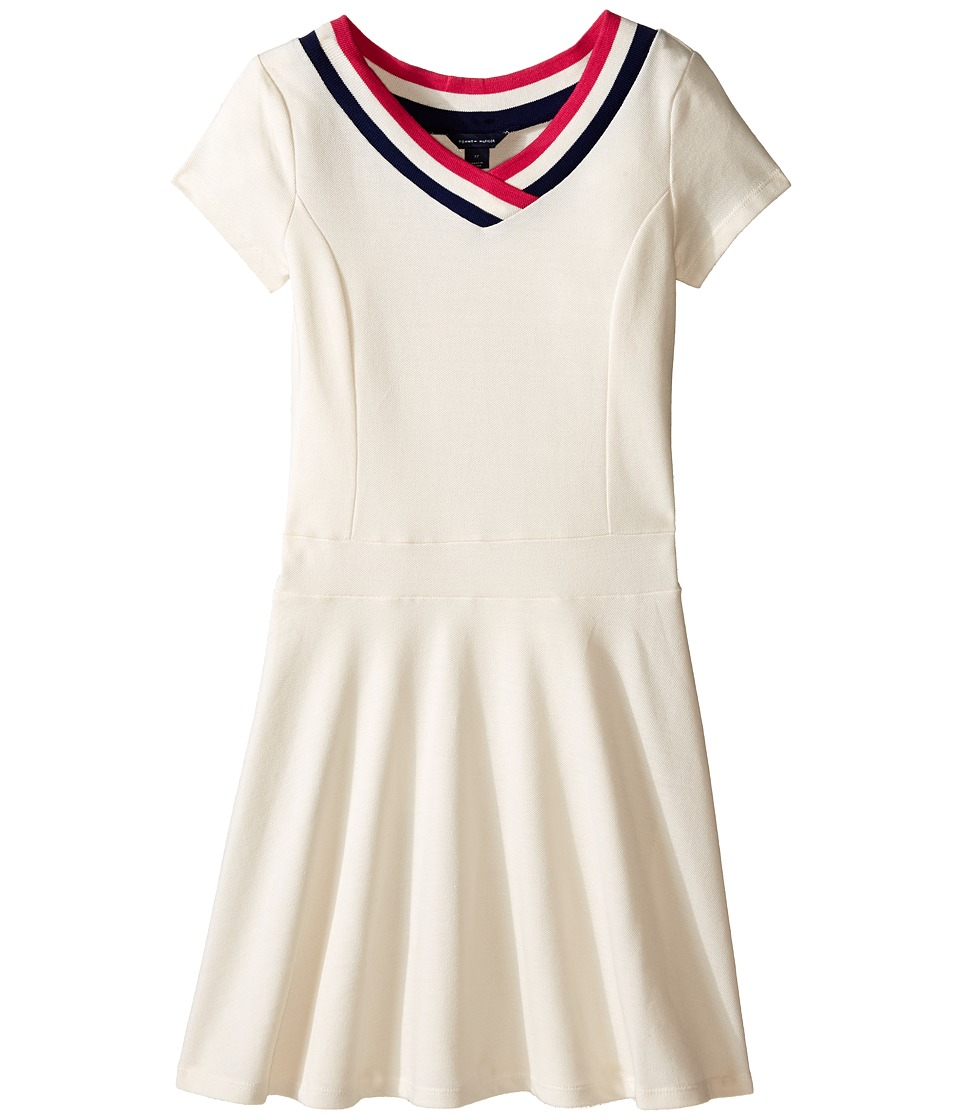 Tommy Hilfiger Kids - Solid Pique Dress (Little Kids/Big Kids) (Whisper White) Girl's Dress