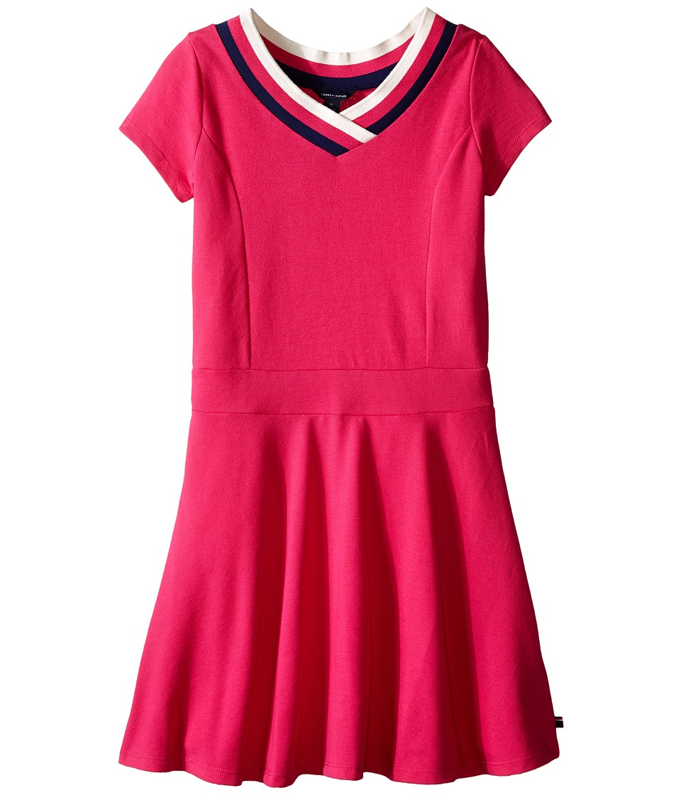 Tommy Hilfiger Kids - Solid Pique Dress (Little Kids/Big Kids) (Lollipop) Girl's Dress