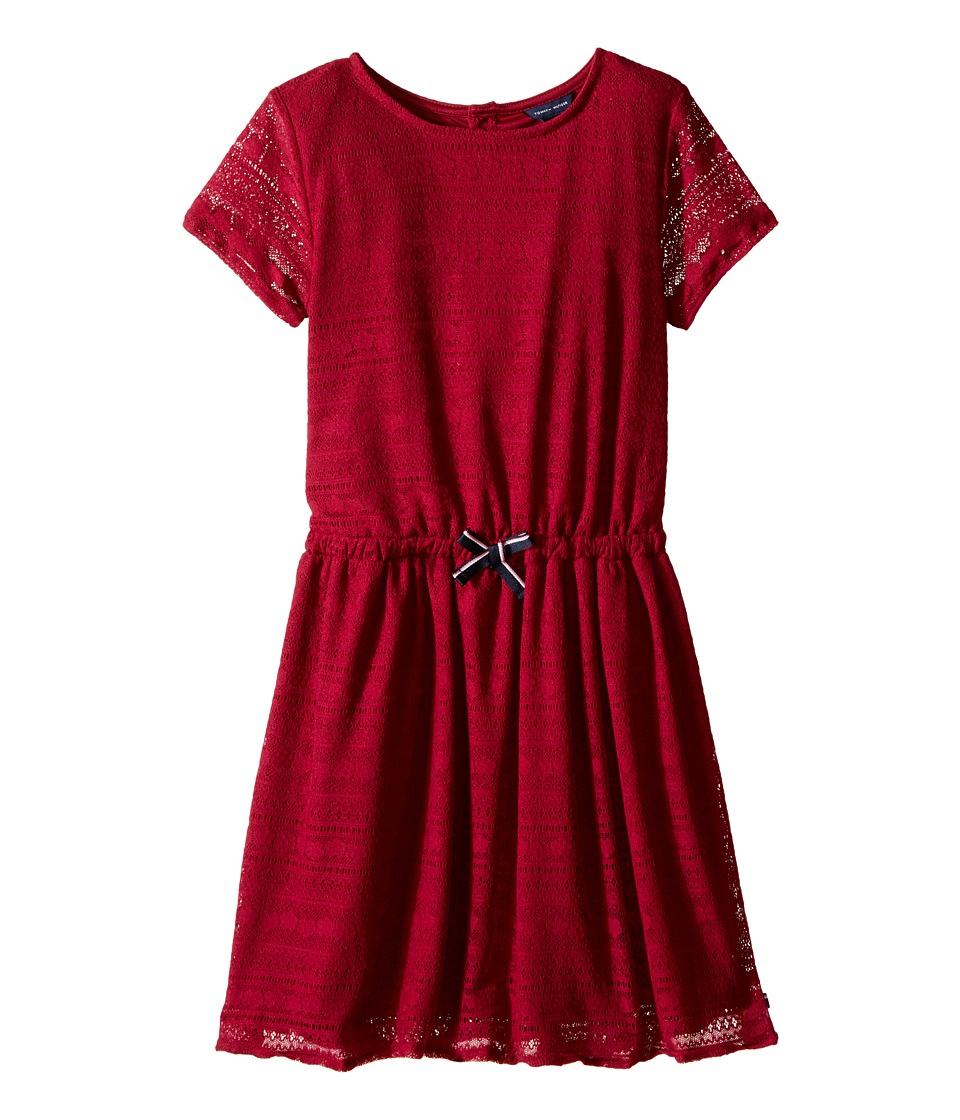 Tommy Hilfiger Kids - Lace Dress (Little Kids/Big Kids) (Red Berry) Girl's Dress
