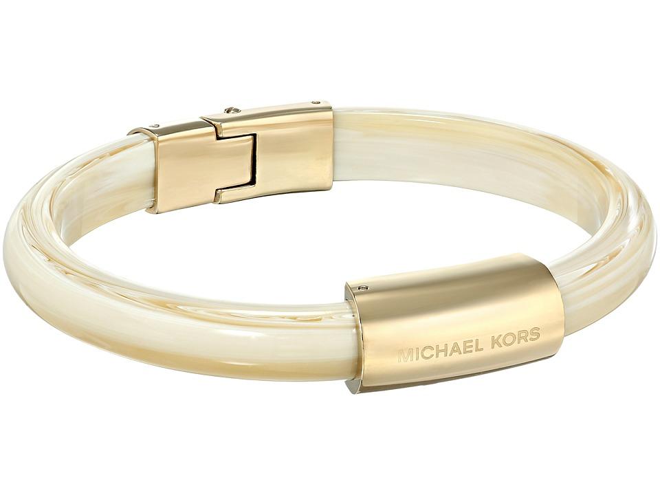 Michael Kors - Logo Plaque Bracelet (Gold/White Alabaster) Bracelet