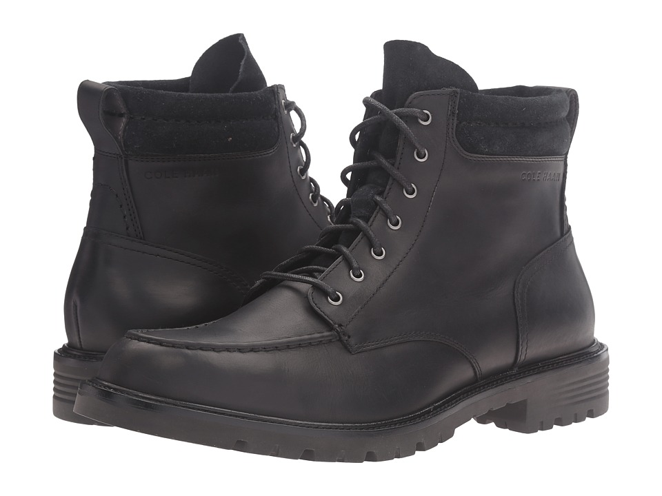 Cole Haan Grantland 6 Inch Lace-Up Water Proof (Black Water Proof) Men
