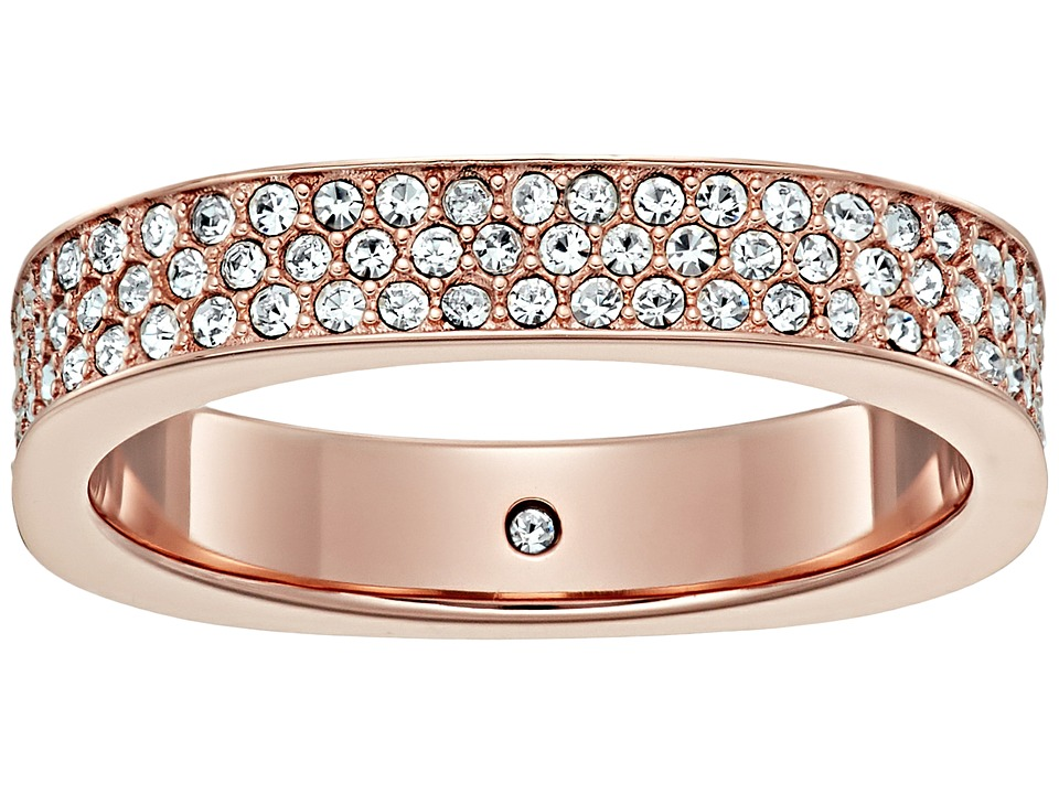 Michael Kors - Brilliance Pave Ring (Rose Gold/Clear) Ring