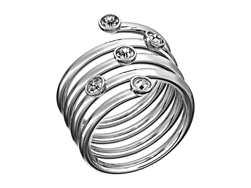Michael Kors - Brilliance Swirl Ring (Silver/Clear 2) Ring