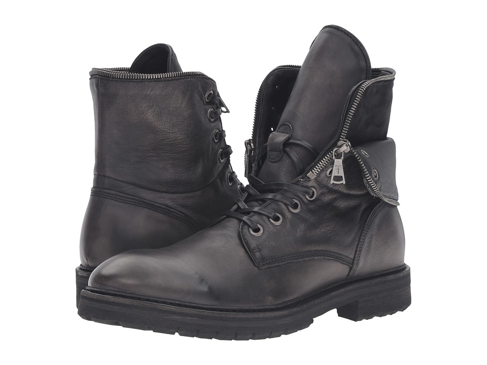 John Varvatos - Stanley Zip Boot (Lead) Men's Boots