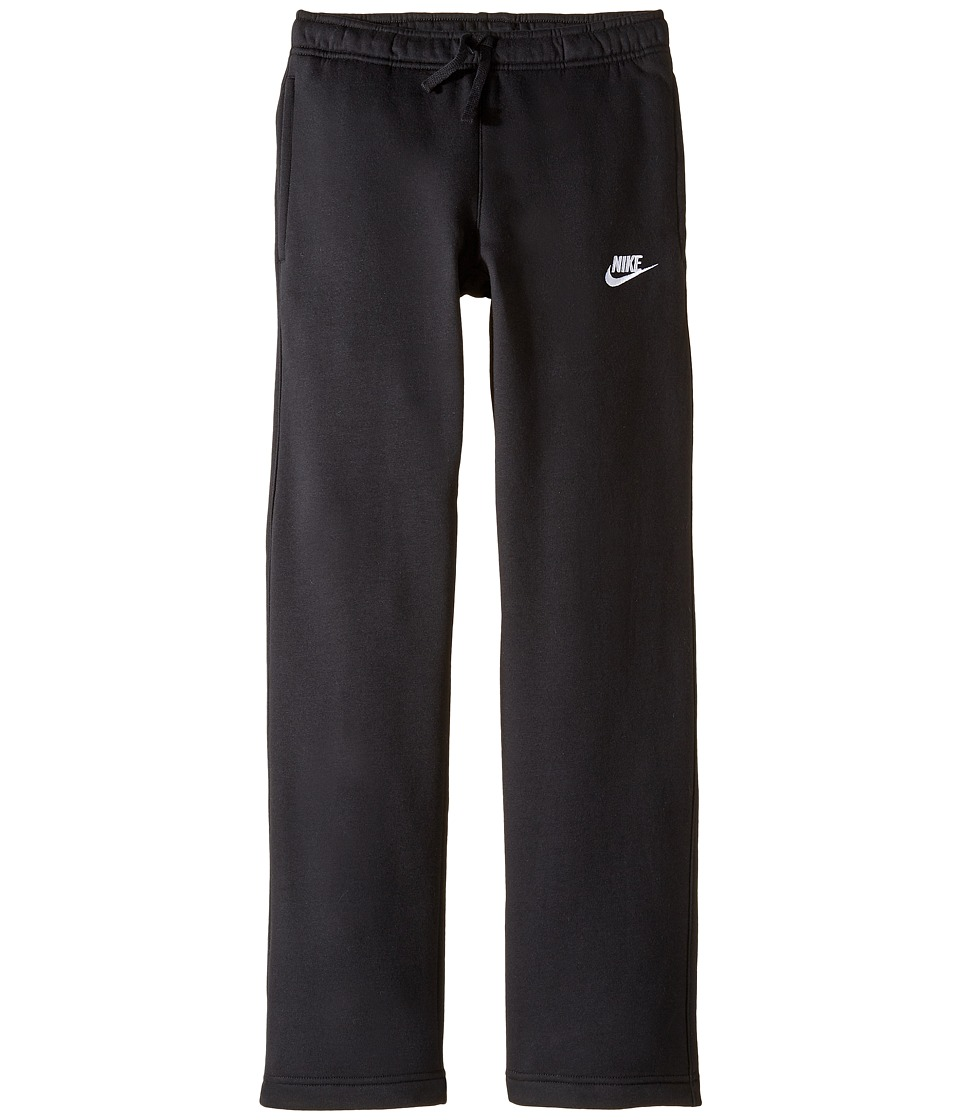 Nike Kids - Sportswear Open Hem Pant (Little Kids/Big Kids) (Black/Black/White) Boy's Casual Pants