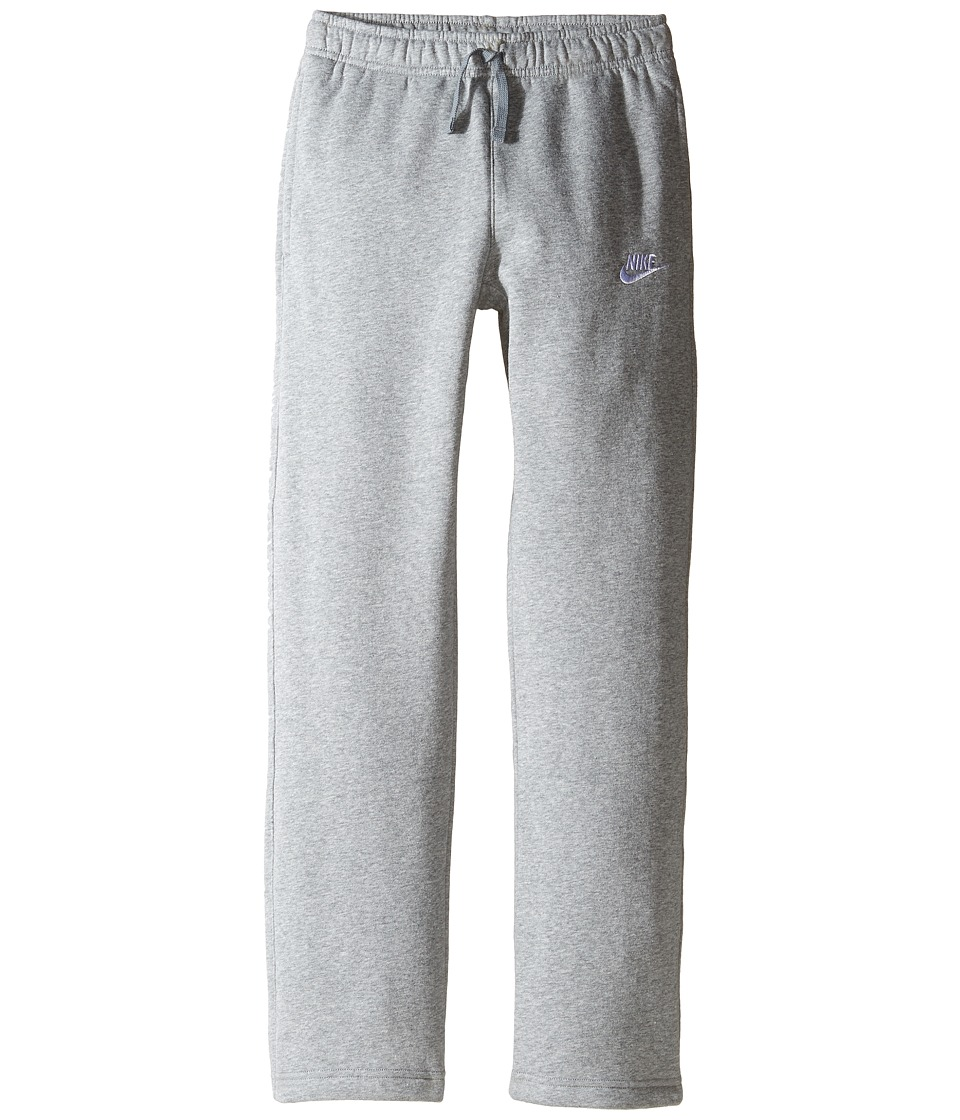 Nike Kids - Sportswear Open Hem Pant (Little Kids/Big Kids) (Dark Grey Heather/Dark Steel Grey/White) Boy's Casual Pants
