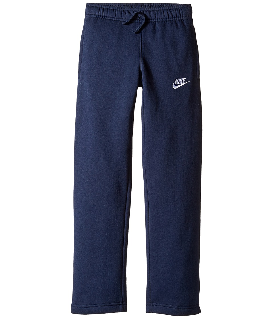 Nike Kids - Sportswear Open Hem Pant (Little Kids/Big Kids) (Obsidian/Obsidian/White) Boy's Casual Pants