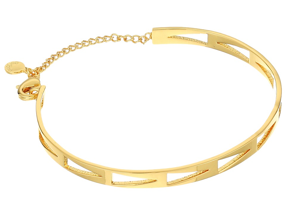 gorjana - Kate Arrow Cut Out Cuff Bracelet (Gold) Bracelet