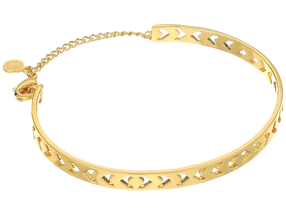 gorjana - Kate Chevron Cut Out Cuff Bracelet (Gold) Bracelet