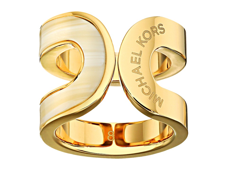 Michael Kors - Color Block Ring (Gold/Alabaster) Ring