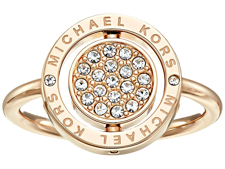 Michael Kors - Flip Glitz Ring (Gold/Clear) Ring