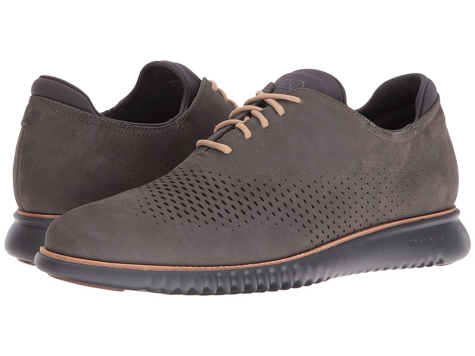 Cole Haan - 2.0 Grand Laser Wing Oxford (Thundercloud Nubuck/Magnet) Men's Lace up casual Shoes