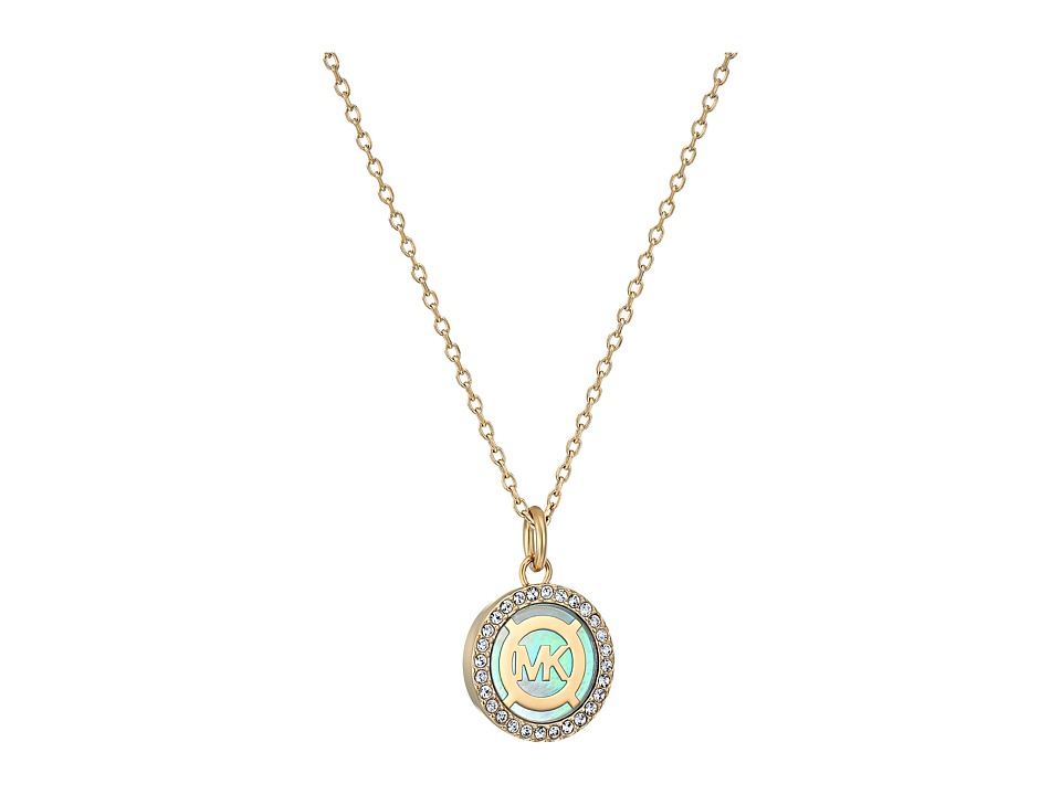 Michael Kors - Mother-of-Pearl Monogram Necklace (Gold/Mother-of-Pearl) Necklace