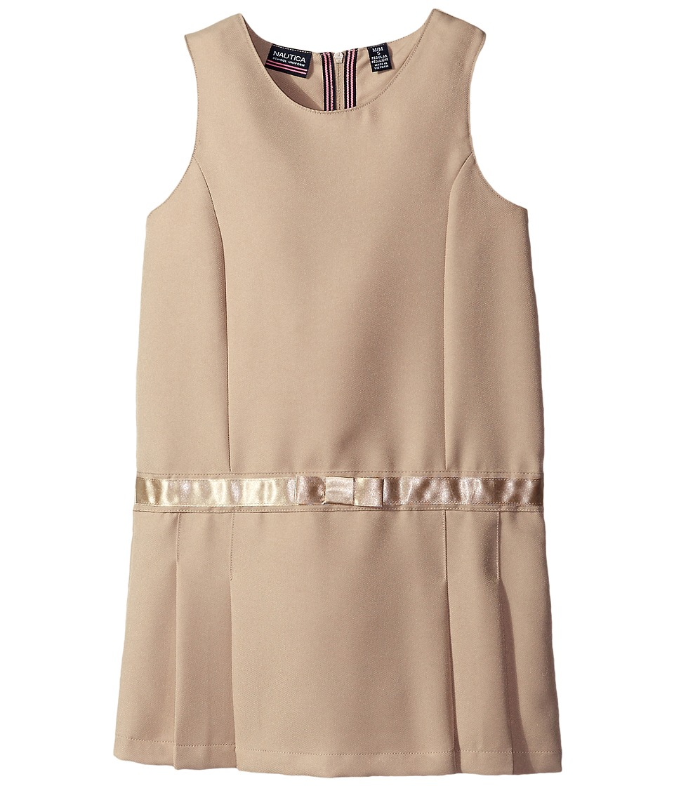 Nautica Kids - Jumper with Bow Waistband (Little Kids) (Su Khaki) Girl's Dress
