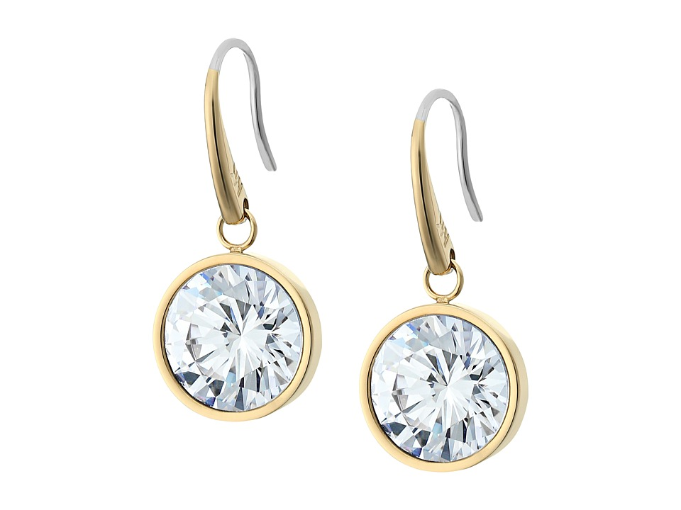 Michael Kors - CZ Earrings (Gold/Clear) Earring