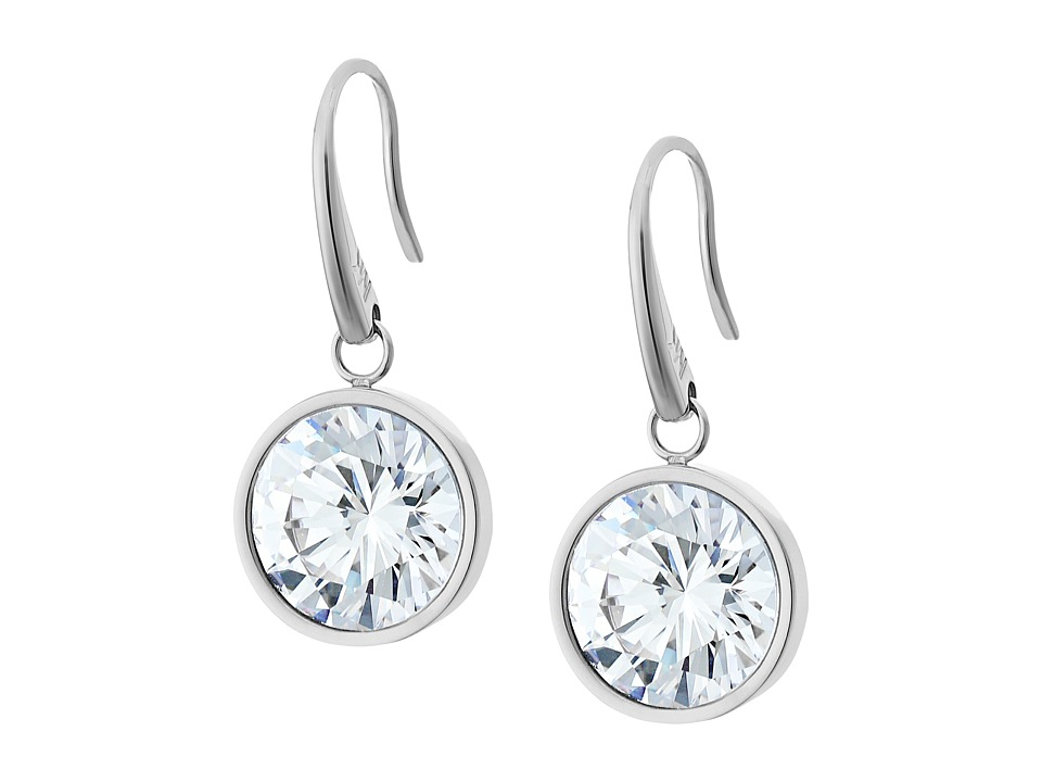 Michael Kors - CZ Earrings (Silver/Clear) Earring