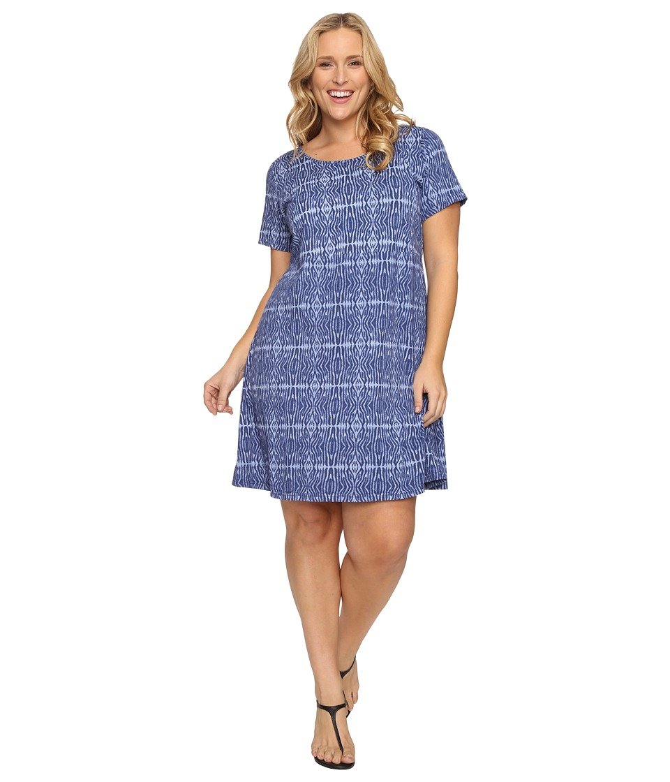 Extra Fresh by Fresh Produce - Plus Size Serenegti Sadie Dress (Moonlight Blue) Women's Dress