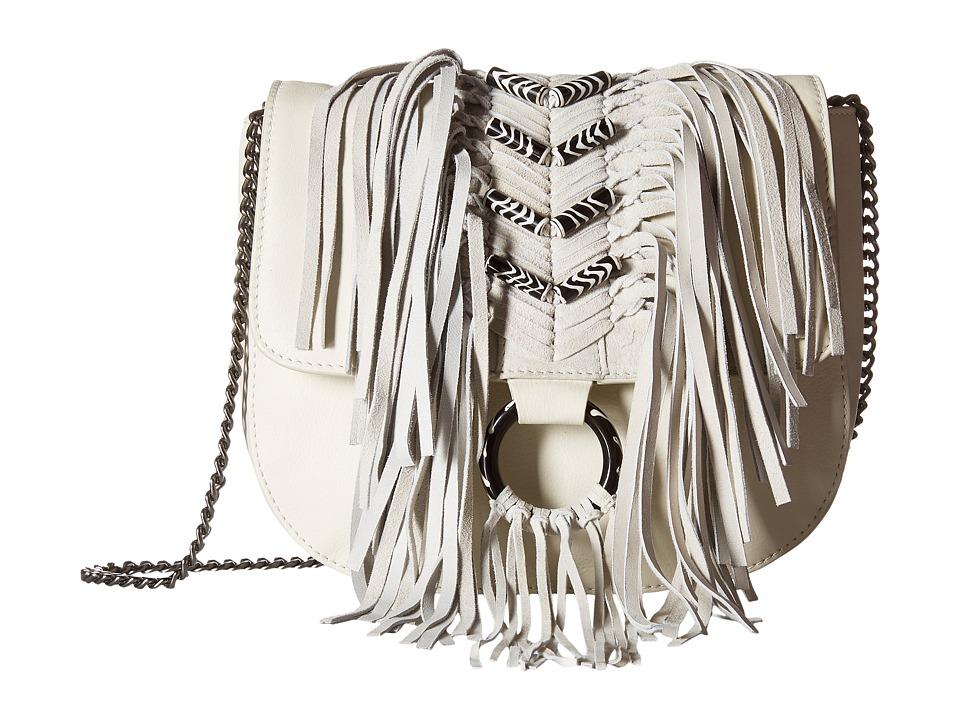 Sam Edelman - Donna Flap w/ Beads (White) Handbags