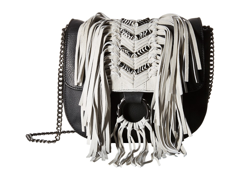 Sam Edelman - Donna Flap w/ Beads (Black) Handbags