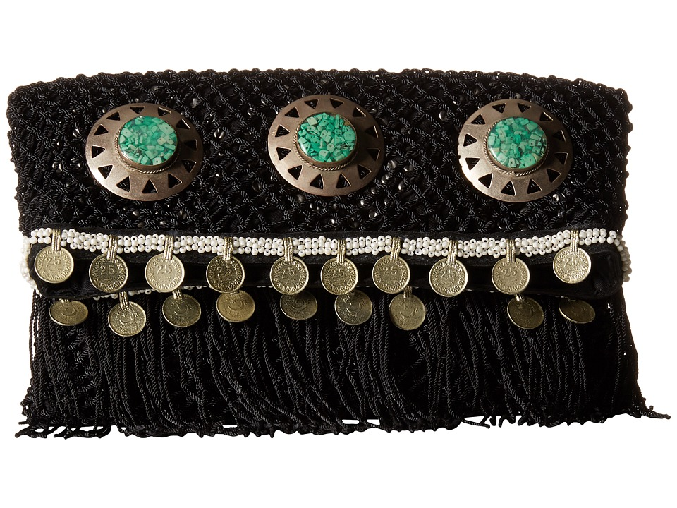 Sam Edelman - Lisa Fold-Over Clutch (Black) Clutch Handbags