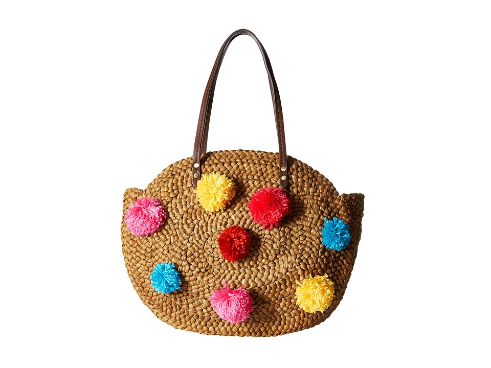 Sam Edelman - Isabella Straw Tote (Bright Multi) Tote Handbags