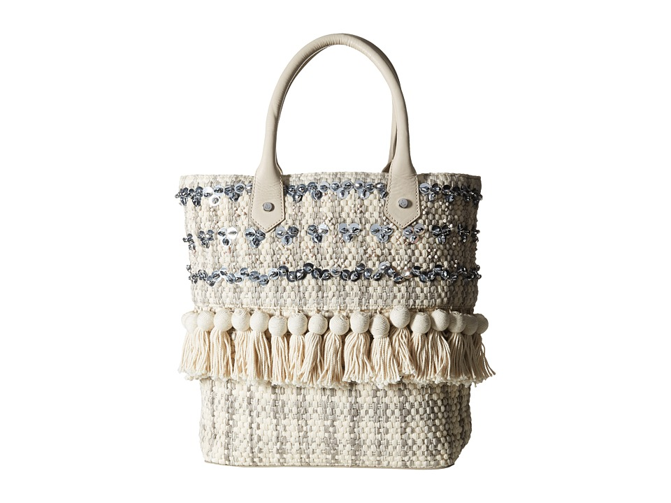Sam Edelman - Tori Sequin Tote (Modern Ivory) Tote Handbags