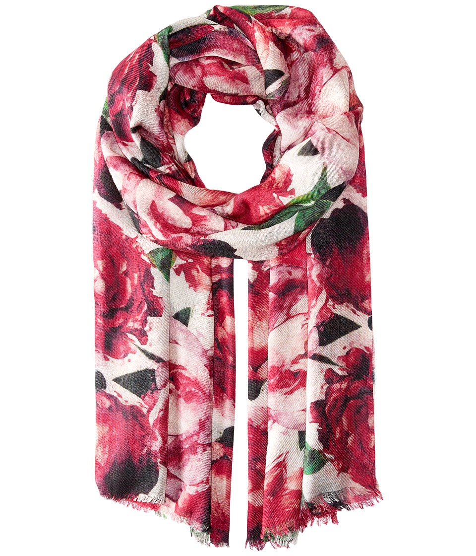 Bindya - Fall Floral (Pink) Scarves
