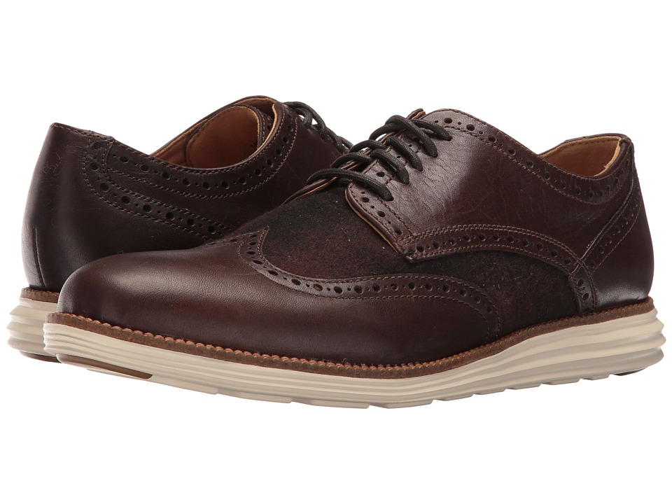 Cole Haan - Original Grand Wing Oxford (Chestnut Leather/Brown Plaid/Ivory) Men's Lace up casual Shoes