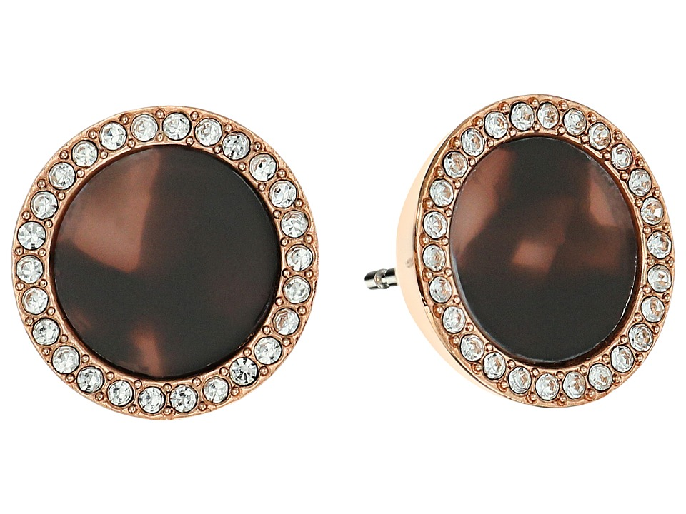 Michael Kors - Blush Tortoise Earrings (Rose Gold/Blush Tortoise/Clear) Earring