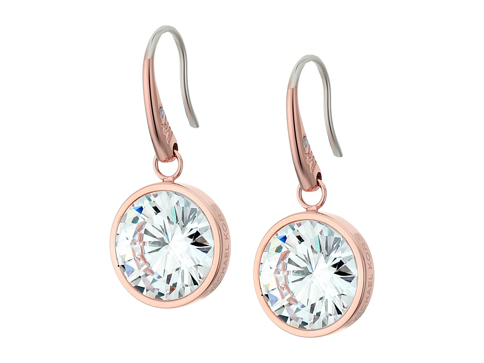 Michael Kors - CZ Earrings (Rose Gold/Clear) Earring