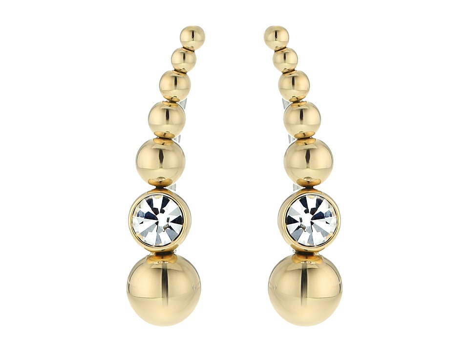 Michael Kors - Climber Earrings (Gold/Clear) Earring