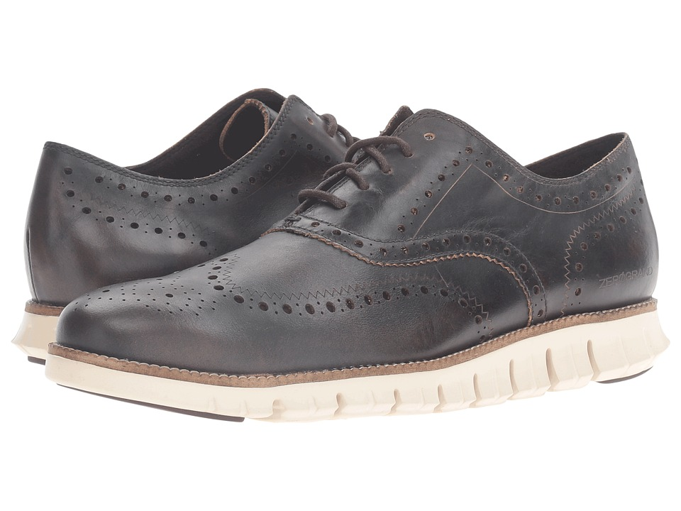 Cole Haan Zerogrand Wing Oxford (Java Leather/Ivory) Men