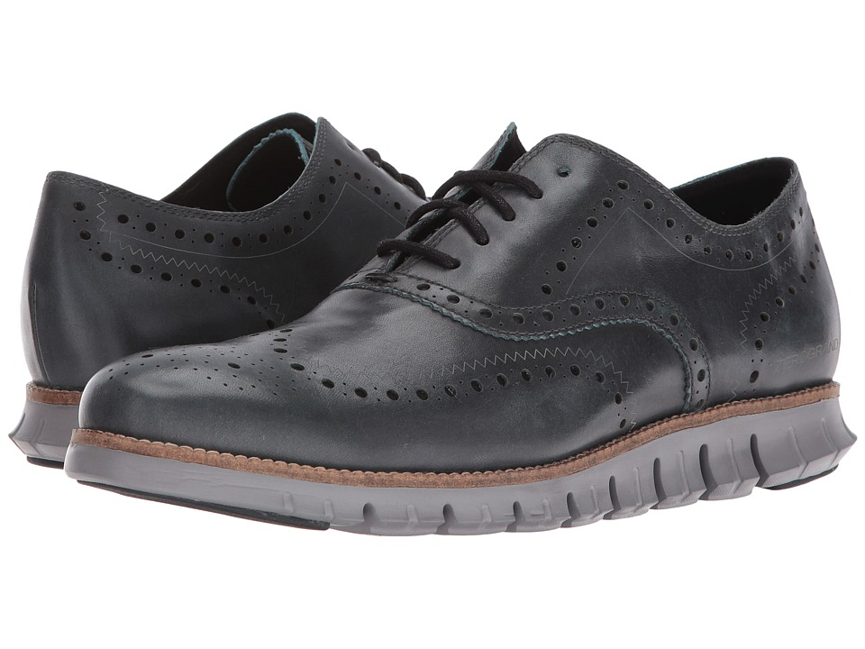 Cole Haan - Zerogrand Wing Oxford (Shadow Sky Leather/Ironstone) Men's Lace up casual Shoes