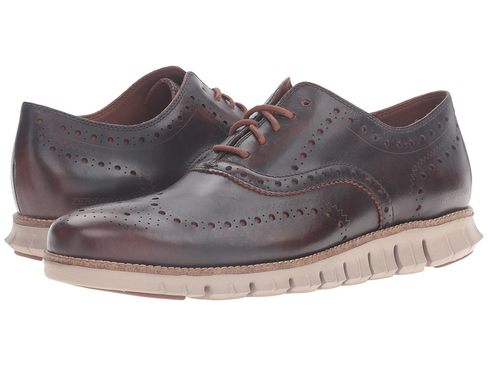Cole Haan - Zerogrand Wing Oxford (Harvest Brown Leather/Cobblestone) Men's Lace up casual Shoes