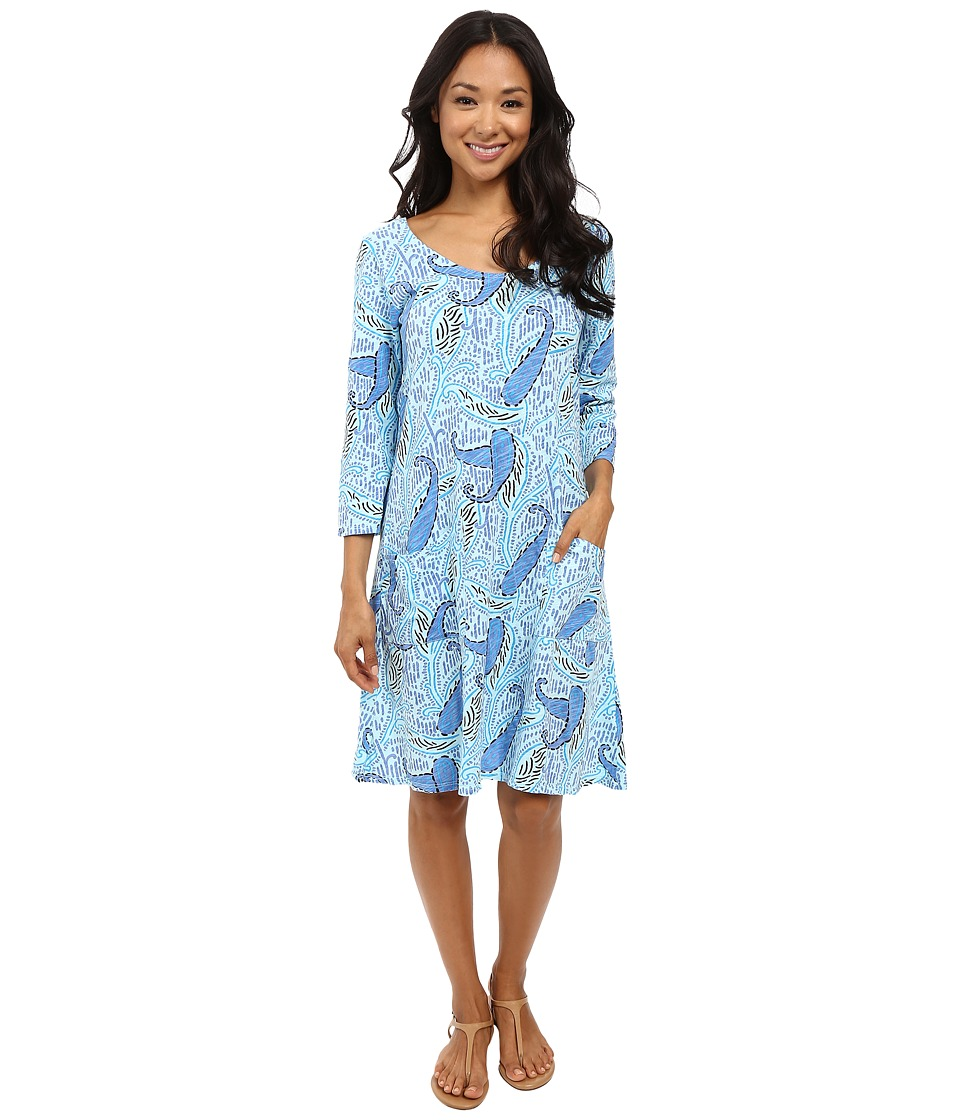 Fresh Produce - Paisley Dalia Dress (Swimming Pool Blue) Women's Dress
